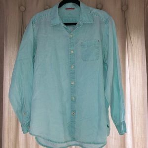 Tommy Bahama Linen Long Sleeve Shirt Men's Medium